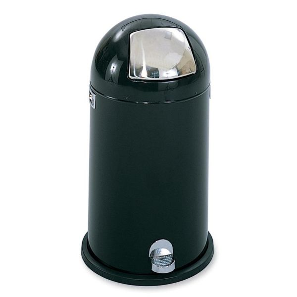 Safco Dome Top Step-On 12 Gallon Trash Can