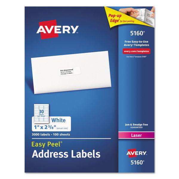 Avery 5160 Easy Peel Address Labels