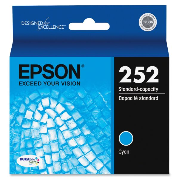 Epson 252 DURABrite Ultra Cyan Ink Cartridge (T252220)