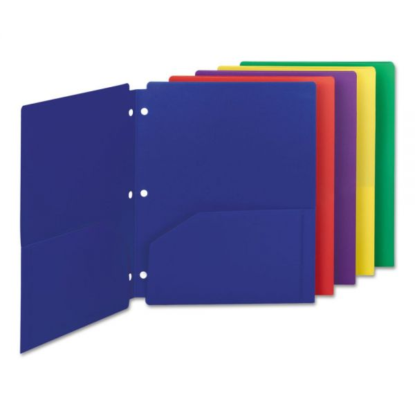 Smead Poly Snap-In Two-Pocket Folders