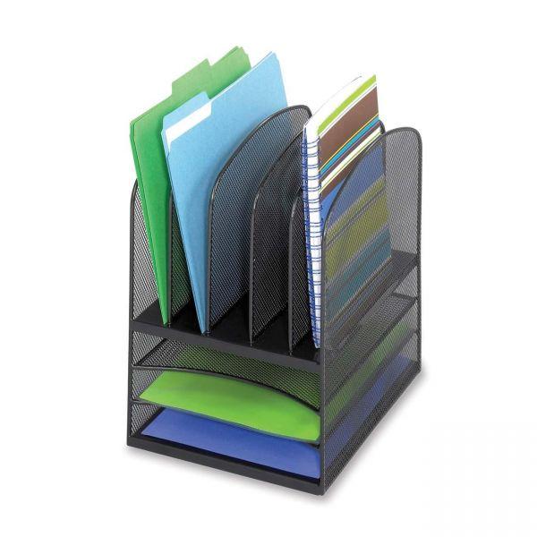 Safco Mesh Horizontal/Vertical File Desktop Organizer