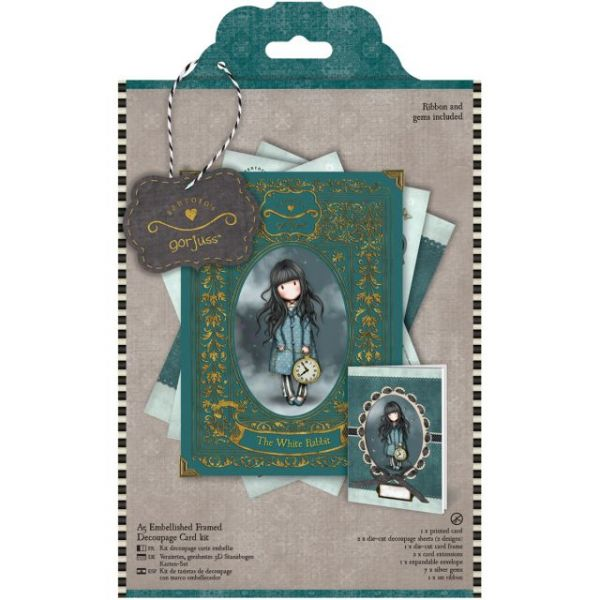 Simply Gorjuss A5 Embellished Framed Decoupage Card Kit