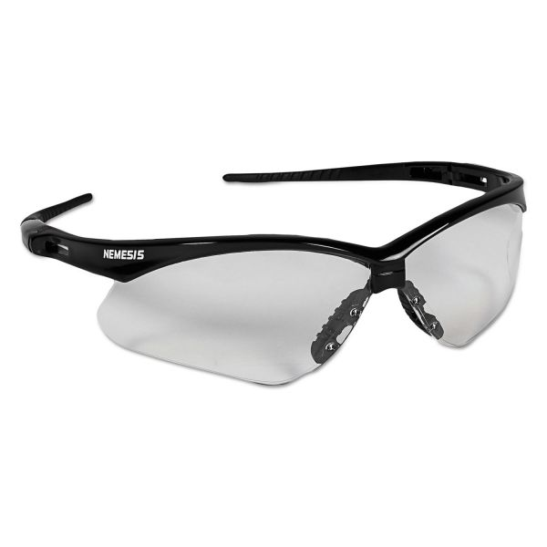 Jackson Safety* Nemesis Safety Glasses, Black Frame, Clear Lens
