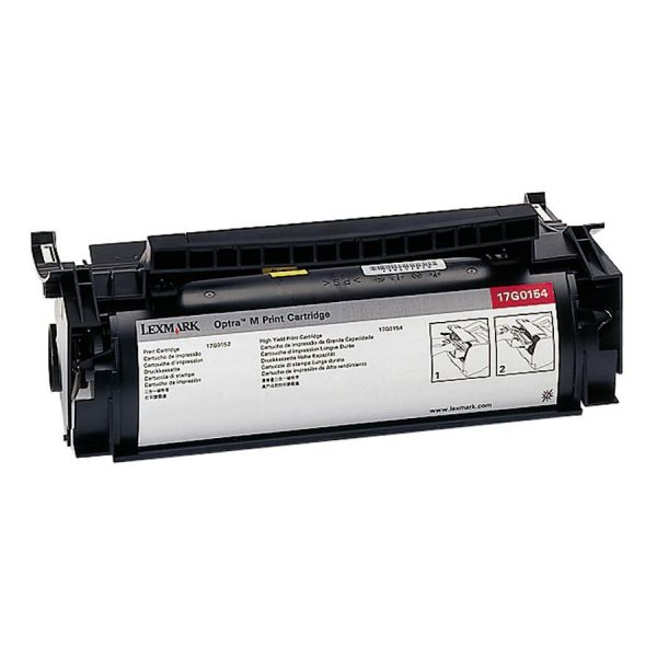 Lexmark 17G0154 Black High Yield Toner Cartridge