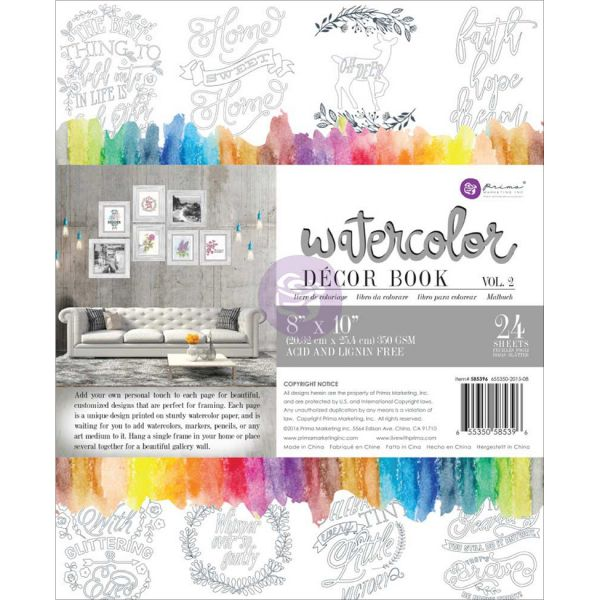 Prima Marketing Vol. 2 Watercolor Decor Painting Book
