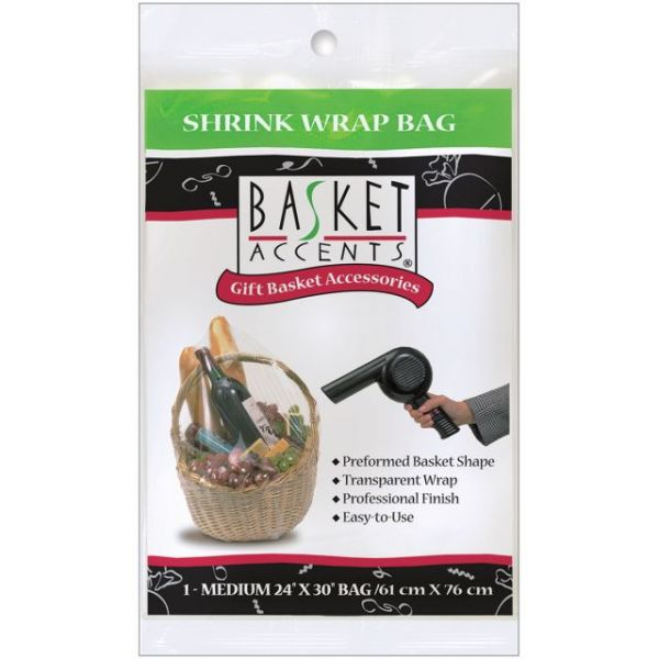 Basket Accents Medium Shrink Wrap Bag