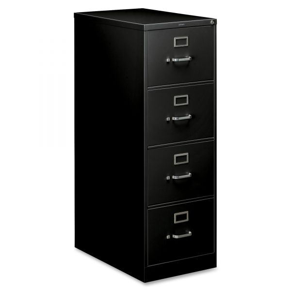 HON 210 Series Four-Drawer, Full-Suspension File, Legal, 28-1/2d, Black
