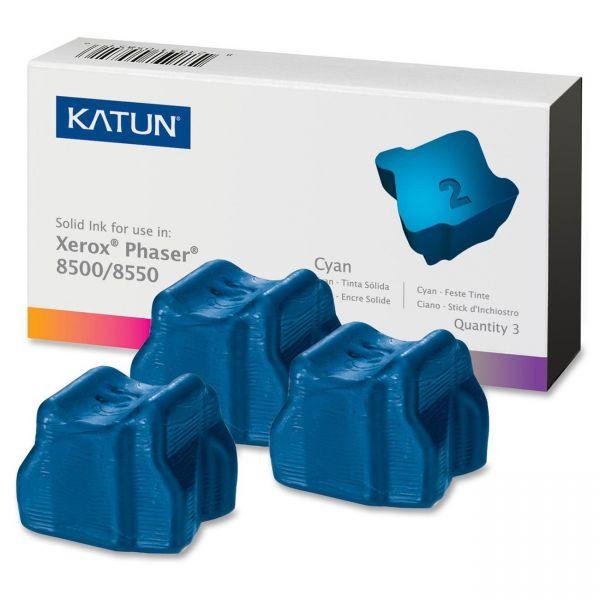 Katun KAT37983 Phaser 8500 Compatible, 108R00669 Solid Ink, 3000 Yld, 3/Box, Cyan