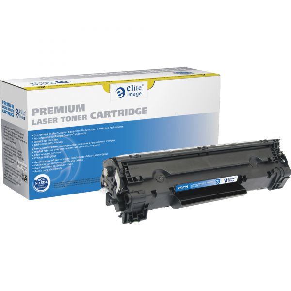 Elite Image Remanufactured HP 36A (CB436A) MICR Toner Cartridge