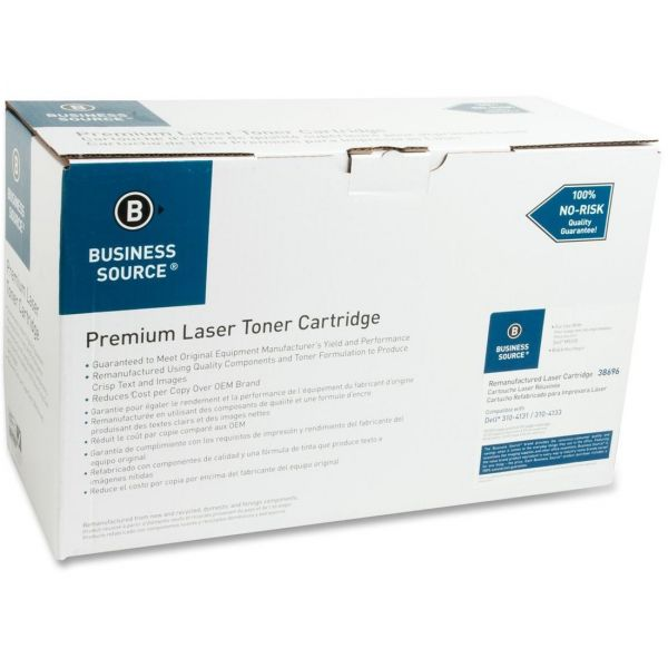 Business Source Remanufactured Dell N0888  Black Toner Cartridge
