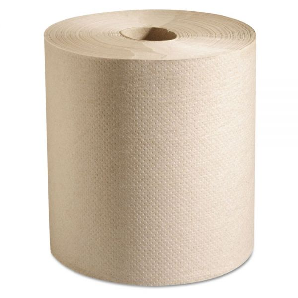 Marcal PRO 100% Recycled Hardwound Roll Paper Towels, 7 7/8 x 800 ft, 1-Ply, Natural, 6 Rolls/Carton