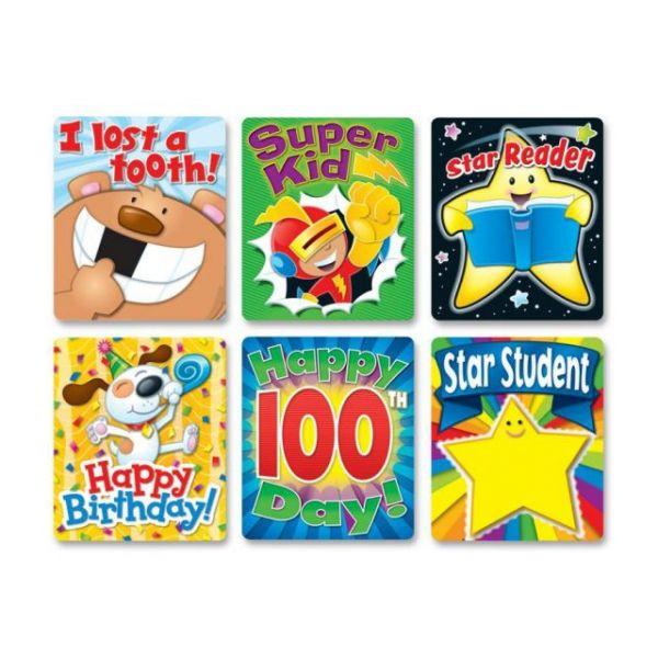 Carson-Dellosa Braggin' Badges Colorful Stickers