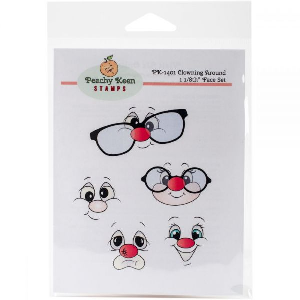 Peachy Keen Stamps Clear Face Assortment 5/Pkg