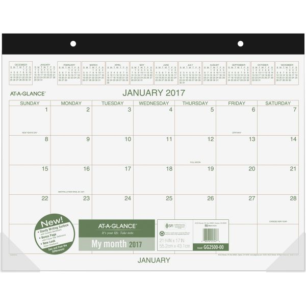 At-A-Glance Recycled Monthly Desk Pad Calendar