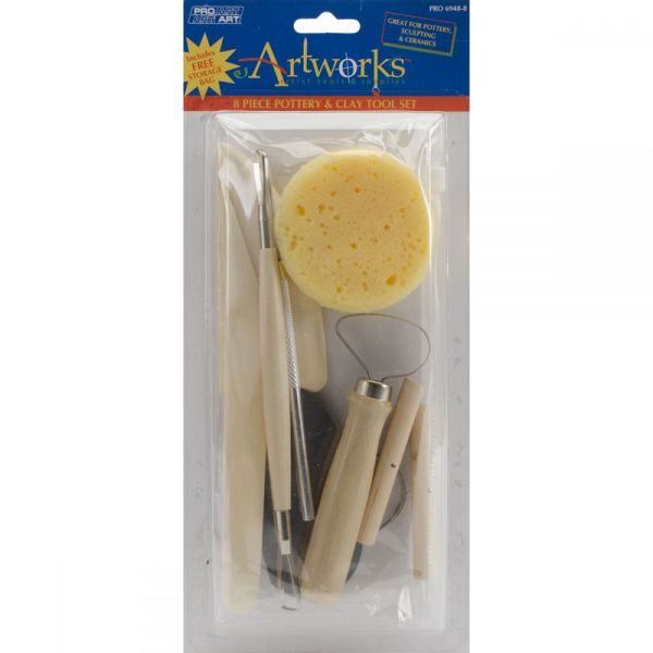 Pro Art Pottery Tool Kit 8/Pkg