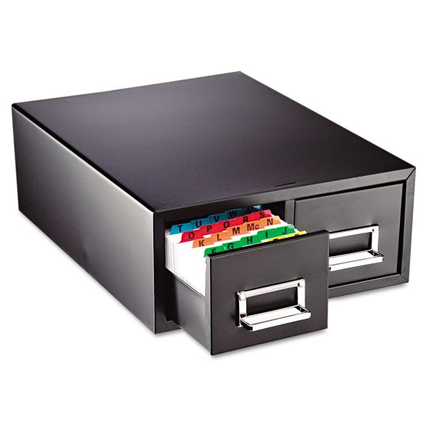 STEELMASTER by MMF Industries Drawer Card Cabinet Holds 3,000 6 x 9 cards, 20-3/8 x 16 x 8 3/8