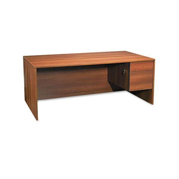 Global Adaptabilities Single Right Pedestal Desk, 72w x 36d x 29h, Honey