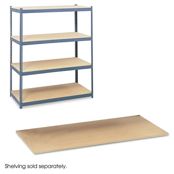Safco Particleboard Shelves for Steel Pack Archival Shelving, 69w x 33d x84w, Box of 4