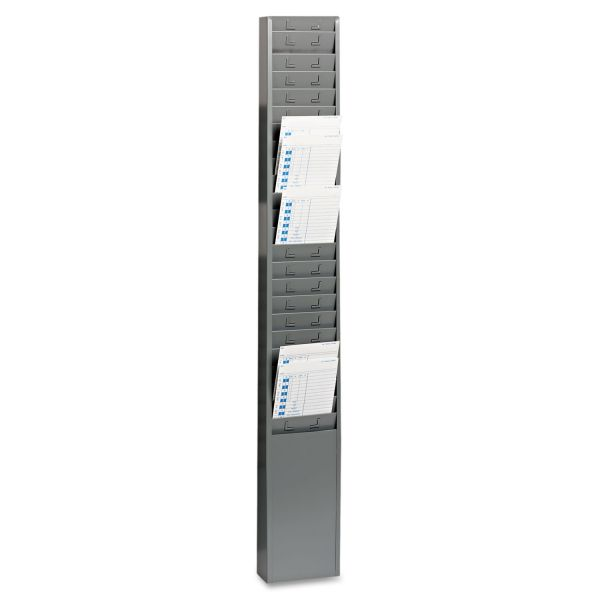 "SteelMaster Steel Time Card Rack with Fixed 4-1/2"" x 5"" Pockets"