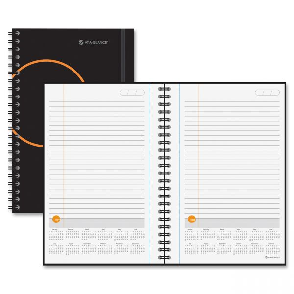 AT-A-GLANCE Planning Notebook With Reference Calendar
