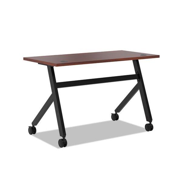 HON Multipurpose Table Fixed Base Table, 48w x 24d x 29 3/8h, Chestnut