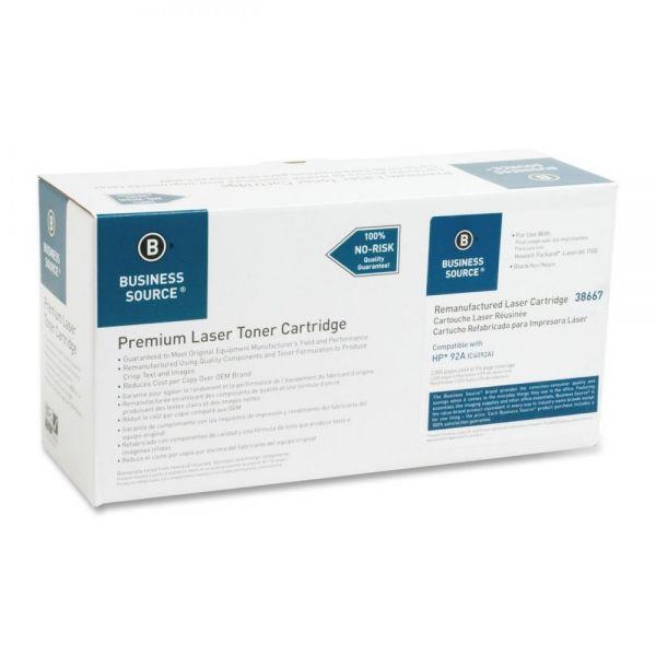 Business Source Remanufactured HP 92A Black Toner Cartridge