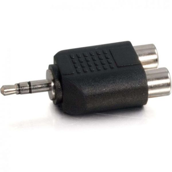 C2G 3.5mm Stereo Male to Dual RCA Female Audio Adapter
