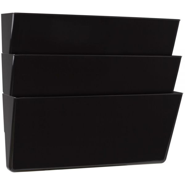 Storex Storex Wall Files, 3-Pack, Legal, Black (Case of 6)