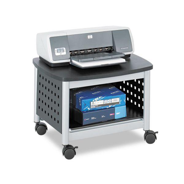 Safco Scoot Printer Stand, 20-1/4w x 16-1/2d x 14-1/2h, Black/Silver