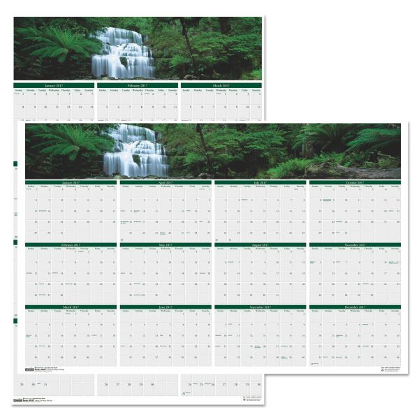 House of Doolittle Earthscapes Laminated Yearly Wall Calendar
