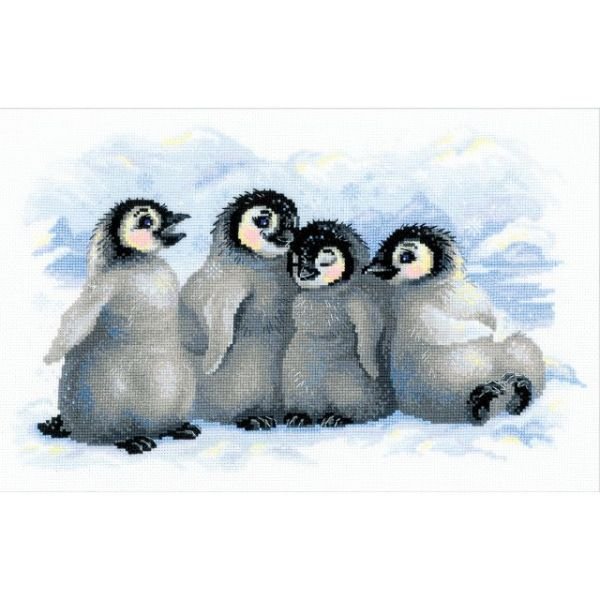 Funny Penguins Counted Cross Stitch Kit