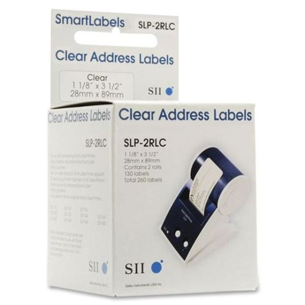 Seiko Clear Address Labels