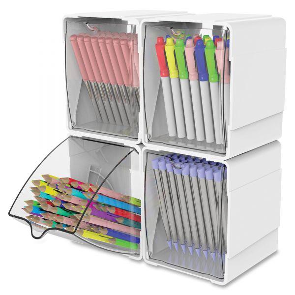 Deflecto Single Interlocking Tilt Bin Storage Organizer