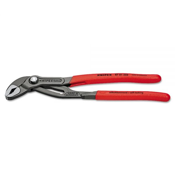 "KNIPEX Cobra Hightech Water Pump Pliers, 9.84"" Tool Length, 2"" Jaw Capacity"