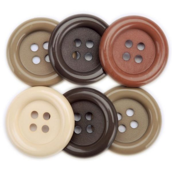 Favorite Findings Big Buttons 6/Pkg