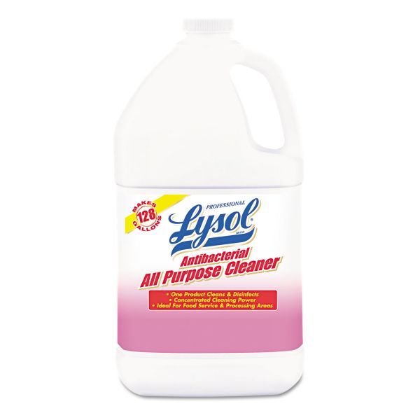 Professional LYSOL Brand Antibacterial All-Purpose Cleaner Concentrate, 1 gal Bottle, 4/Carton