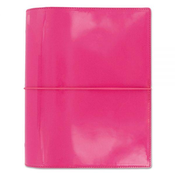 Filofax Domino Patent A5 Organizer, 8 1/4 x 5 3/4, Pink, 2016