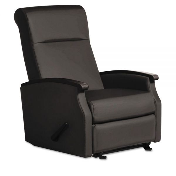 La-Z-Boy Contract Florin Collection Room Saver Recliner, Black Vinyl