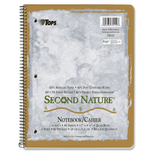 TOPS Second Nature Spiral Notebook