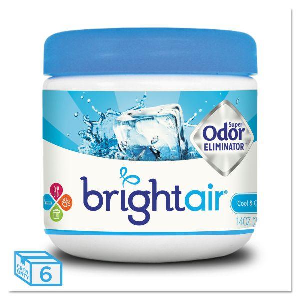 BRIGHT Air Super Odor Eliminator, Cool and Clean, Blue, 14oz, 6/Carton