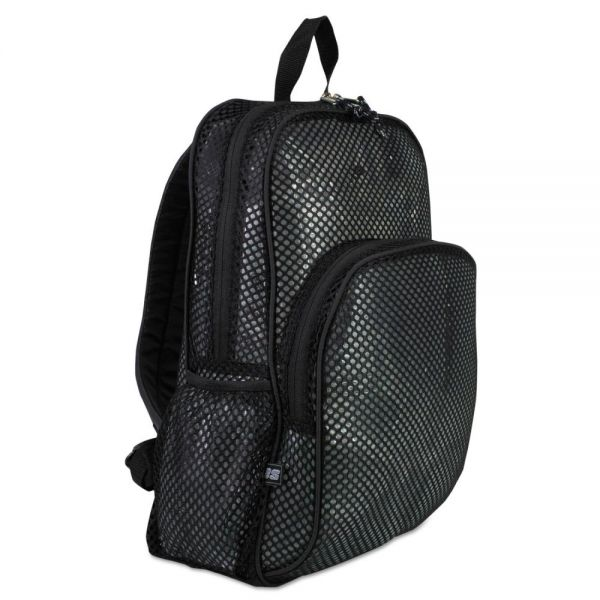 Eastsport Mesh Backpack, 12 x 5 1/2 x 17 1/2, Black