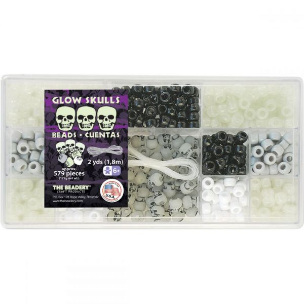 The Beadery Glow Skulls Bead Box Kit