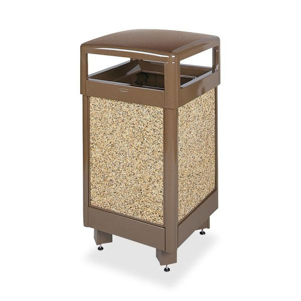 United Aspen Hinged-Top With Weather Urn Trash Container
