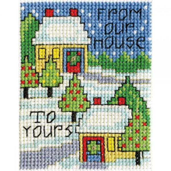 Our House W/Frame Mini Counted Cross Stitch Kit