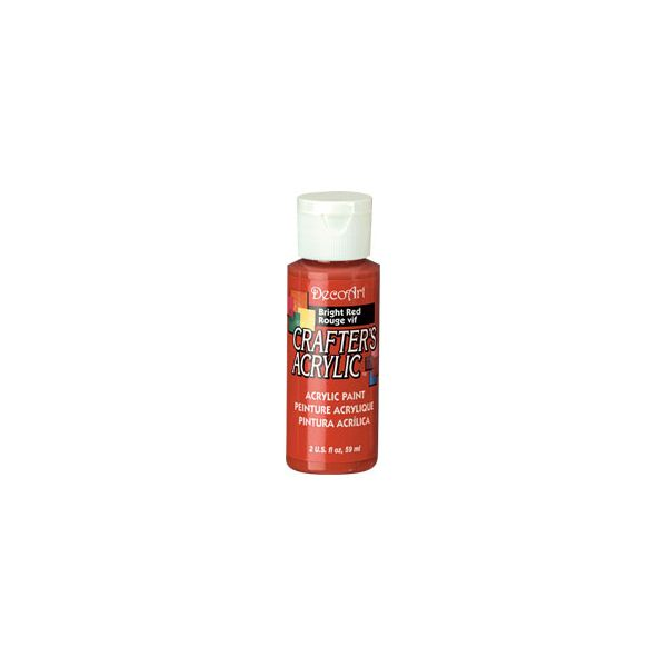 Deco Art Bright Red Crafter's Acrylic Paint