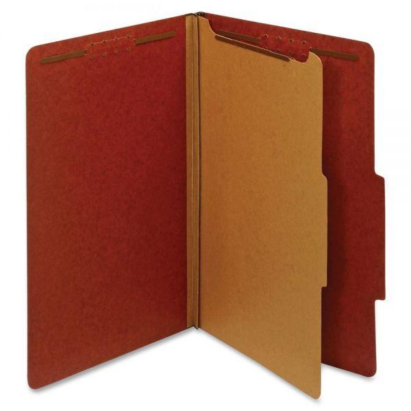 Globe-Weis 100% Recycled Red Pressboard Classification Folders