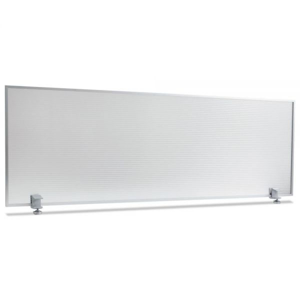 Alera Polycarbonate Privacy Panel, 47w x 18h, Silver