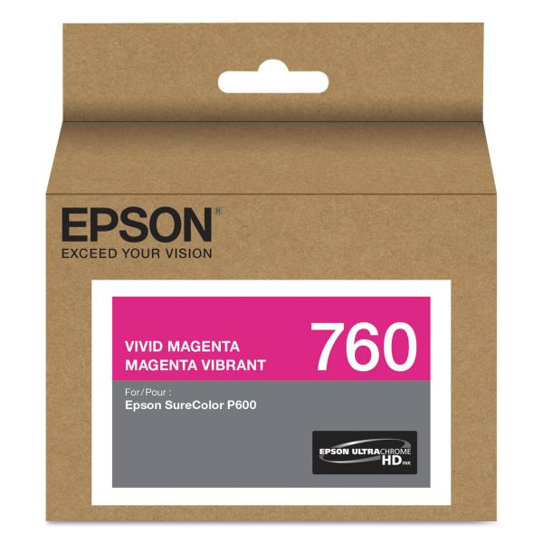 Epson 760 UltraChrome Vivid Magenta HD Ink Cartridge (T760320)
