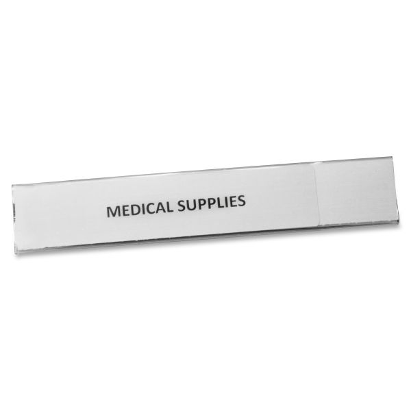 Panter Company Clear Magnetic Label Holders, 6 x 1, Clear, 10 per Pack