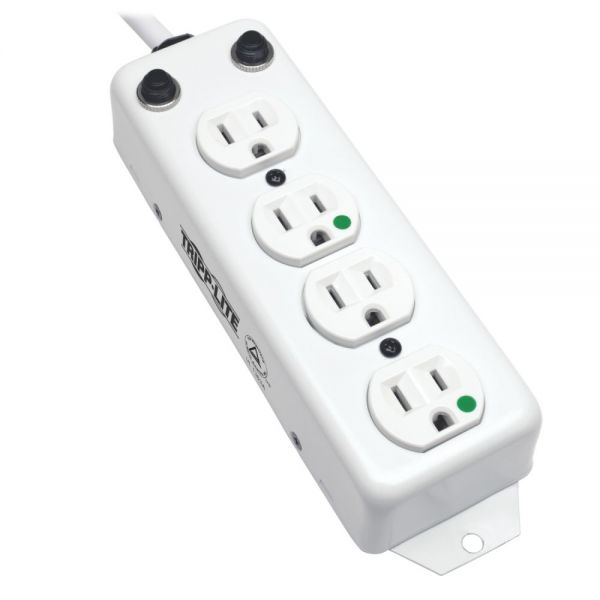 Tripp Lite Power Strip Hospital Medical 120V 4 Outlet UL1363A 15' Cord Metal